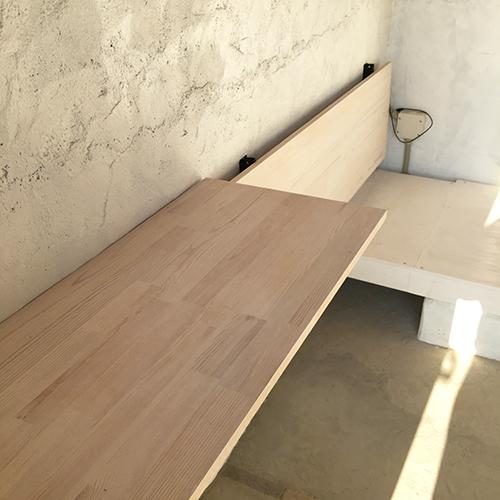 一人で作るブロック小屋⑱ ~棚を取り付ける~⑤