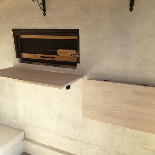一人で作るブロック小屋⑱ ~棚を取り付ける~⑥
