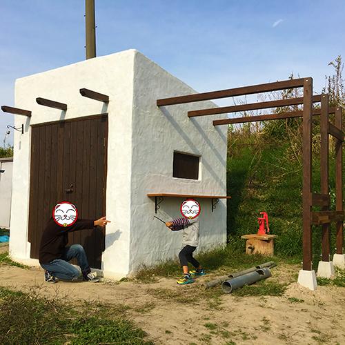 一人で作るブロック小屋⑱ ~棚を取り付ける~⑩