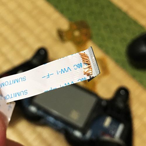 PS4コントローラー分解修理 ~フィルムキーパッド~④