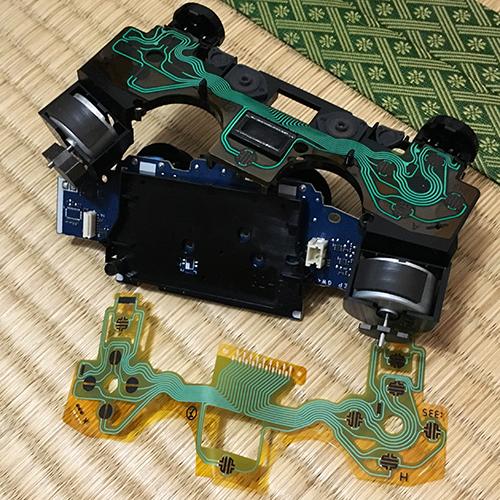 PS4コントローラー分解修理 ~フィルムキーパッド~⑦