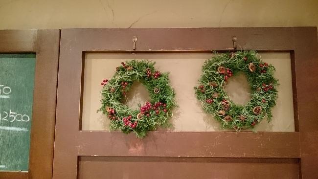 2018年最後のお花教室はクリスマスリース作り
