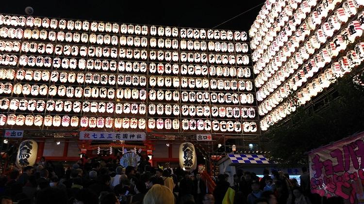 20181113花園神社二の酉提灯
