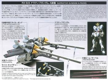 HGUC ナラティブガンダム A装備の説明書画像