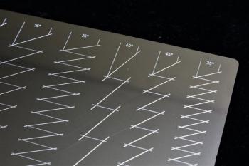マスキングテープカットガイド プレート型 [三角][スジボリ堂]《 (5)