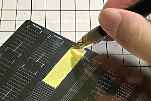 マスキングテープカットガイド プレート型 [直線] (5)t
