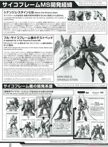 MG シナンジュ・スタイン(ナラティブVer.)の説明書画像 (1)