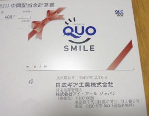 日本ギア工業株主優待2048年9月分