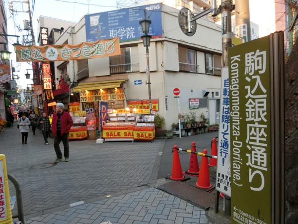 山手線駅から最も近い銀座、「駒込銀座」(駒込)は道に迷えない!