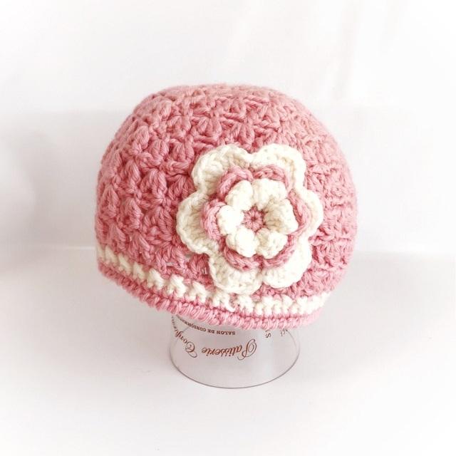手編み雑貨 HanahanD キッズサイズ ニット帽 手編み 冬小物