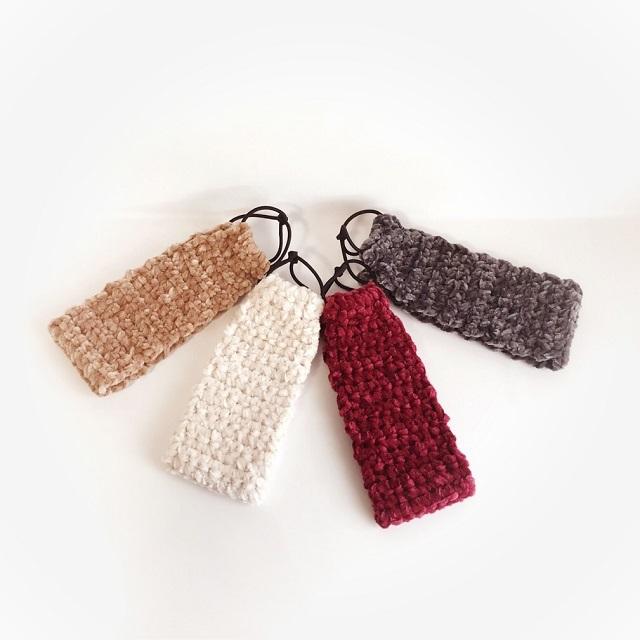 手編み雑貨 HanahanD 冬 暖か ヘアバンド コーデュロイ