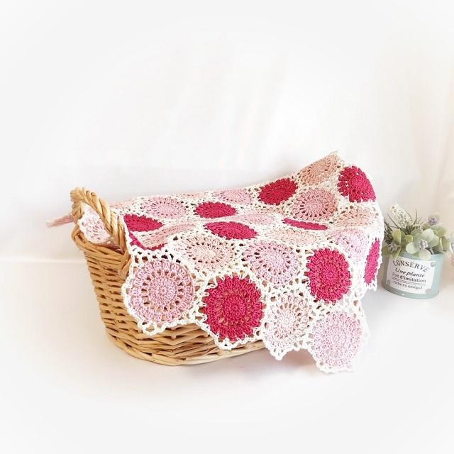 手編み雑貨 HanahanD ドイリー モチーフ繋ぎ レース