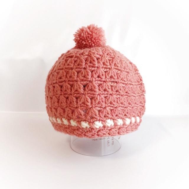 手編み雑貨 HanahanD キッズ 手編み ニット帽 冬小物
