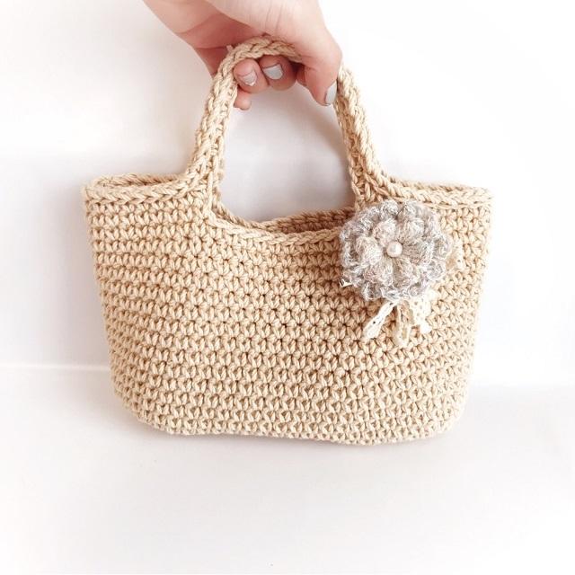 手編み雑貨 HanahanD ブローチ コサージュ 花 冬
