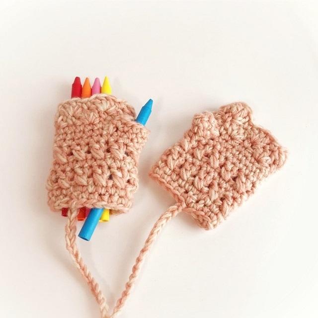 手編み雑貨 HanahanD キッズ 冬小物 ハンドウォーマー