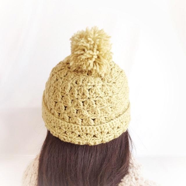 手編み雑貨 HanahanD ニット帽 冬小物 手編み 帽子
