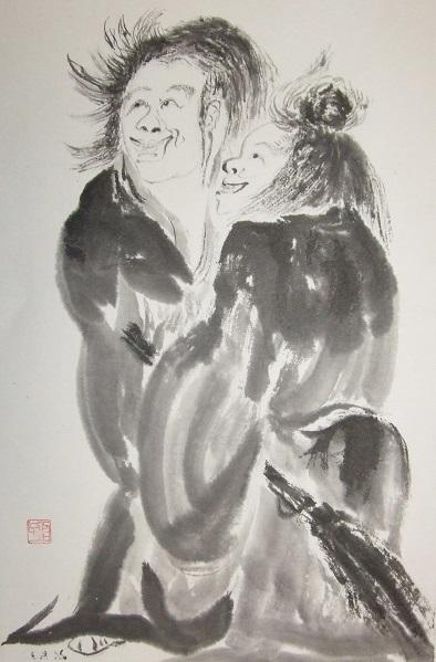 母の水墨画その33