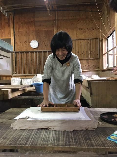 紙漉き体験8