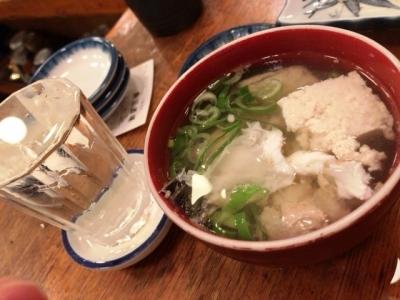 180718魚三酒場富岡店お酒190円と汁100円