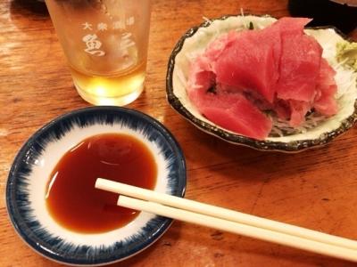 180718魚三酒場富岡店マグロぶつ240円