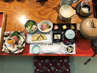 180807あみ達【貸切】VIPコース16200円前菜と刺身、穴子の煮付け