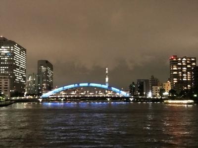 180807あみ達【貸切】VIPコース16200円永大橋の先にはスカイツリー