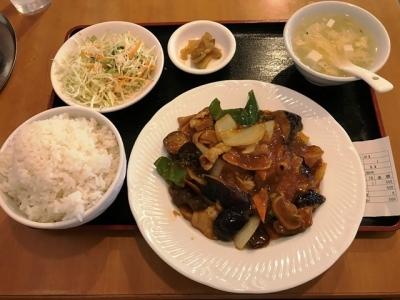 180814キンキリン酒場ナスと肉炒め500円