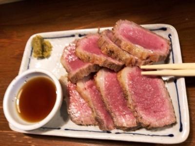 181025鉄板鶏料理糀や和牛タタキ600円