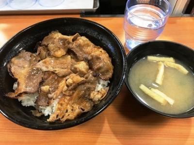 181031東京チカラめし新宿西口1号店焼き牛丼(並)450円