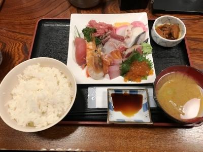 181115さいとう海鮮丼の具大盛りを別盛り1050円酢飯