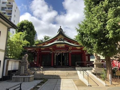 都会の神社