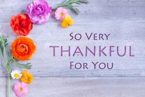 心からの感謝を込めて
