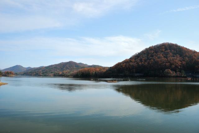 千丈寺湖_釣り舟