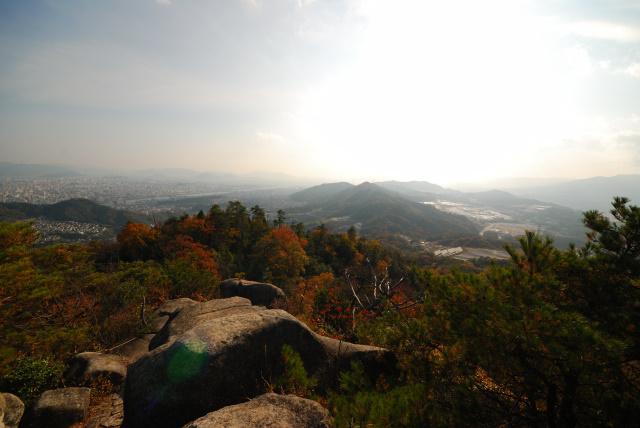 広島アルプス_立石城址の展望岩からの眺め