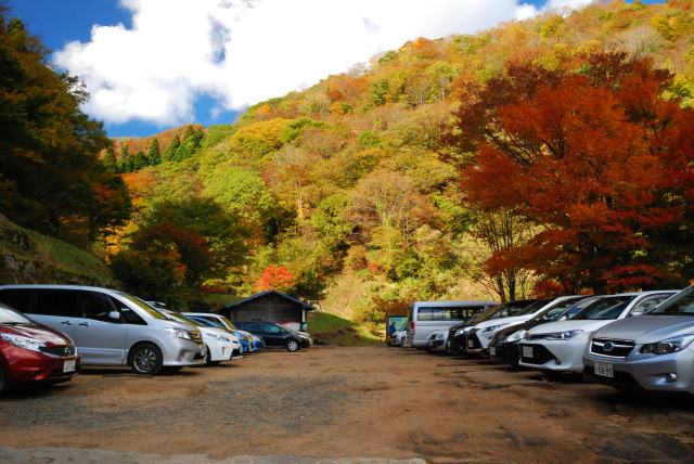 氷ノ山_福定親水公園の駐車場_既に満車