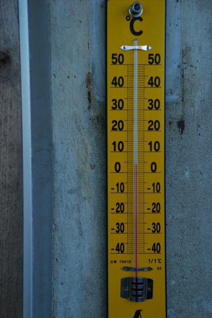 国民宿舎の温度計_4℃