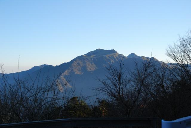 国民宿舎石鎚から見える瓶ヶ森の眺め