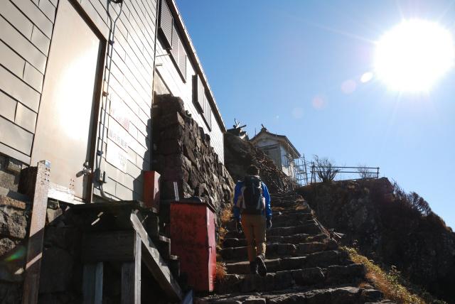 迂回路の階段