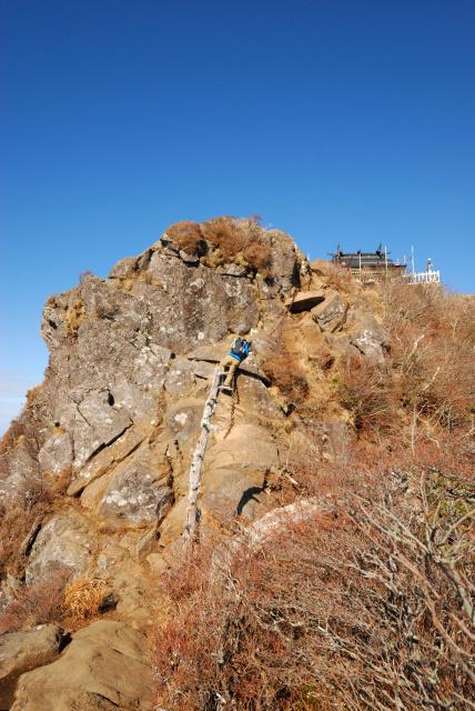 弥山から天狗岳への稜線