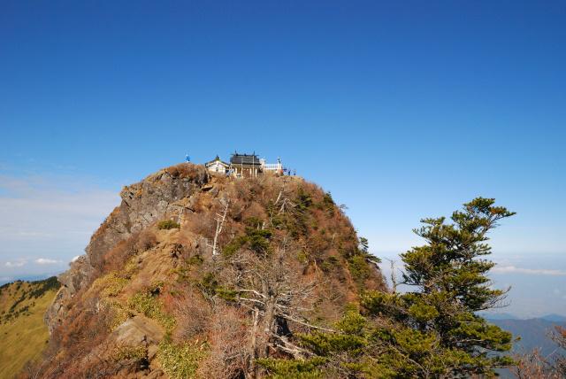 天狗岳から弥山の眺め