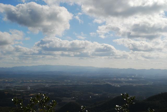 三草山_山頂から六甲山
