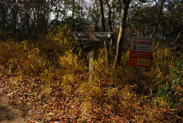 三草山_鹿野コースと畑コースの分岐