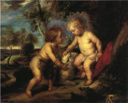 r-the christ child and young st john the baptist s