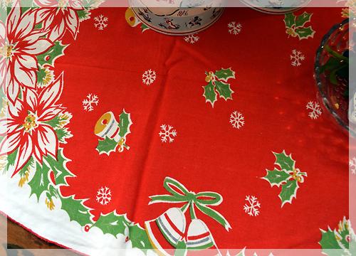 ヴィンテージ・クリスマスクロス