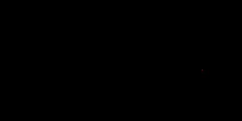 カギカッコ手書きリボン黒