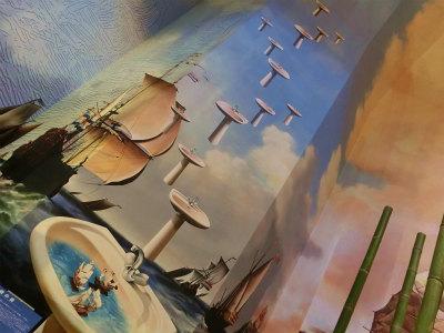 ハウステンボス壁絵
