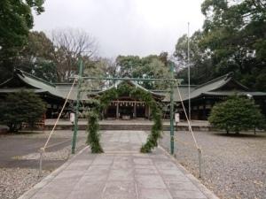 護国神社正月飾り