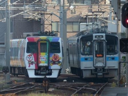 8000系アンパンマン列車 & 7000系電車