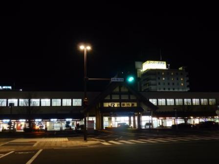 JR出雲市駅 北口 (夜)