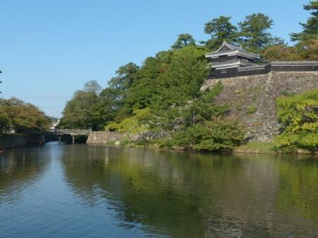 松江城 堀